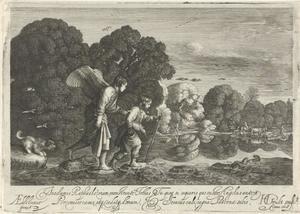 Tobias en de engel bij een rivier