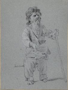 De Romeinse bedelaar Francesco Ravai, bijgenaamd Bajocco