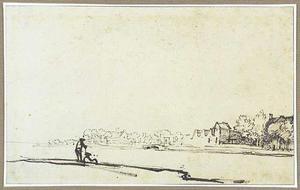De Amstel, gezien naar de herberg Bergenvaarderskamer