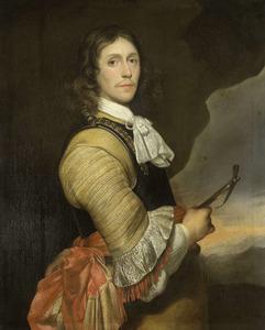 Portret van een man in kuras