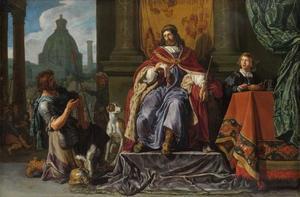 David geeft Uria de brief voor Joab (2 Samuel 11:14)