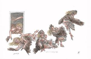 Metamorfose van Nyctimene tot steenuil