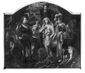 De Vlaamse Maagd door Minerva voorgesteld aan Philips IV van Spanje