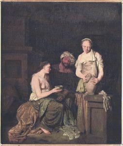Lot wordt door zijn dochters dronken gevoerd (Genesis 19:30-38)