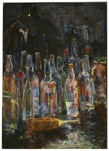 Stilleven met flessen