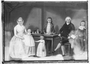 Portret van de familie van Walraven Francken (1754-1835) en Anna Christina van Goor (1762-1835)