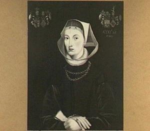 Portret van Anna van Mockema (1527-1585), echtgenote van 1. Werp Wytzes van Juckema en 2. Agge Aefges van Albada