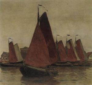 Aangemeerde boten in een haven