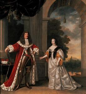 Portret van Friedrich Wilhelem, keurvorst van Brandenburg (1620-1688) en Louise Henriette van Oranje-Nassau (1627-1667)
