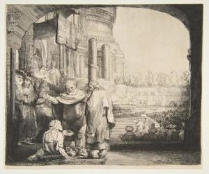 Petrus en Johannes genezen de lamme aan de poort van de tempel
