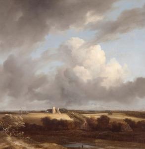 Gezicht op de ruïne van Huis ter Kleef en Haarlem