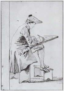 Portret van Jurriaan Andriessen (1742-1819), kunstschilder