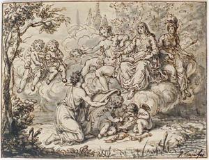 Allegorische voorstelling met Athena