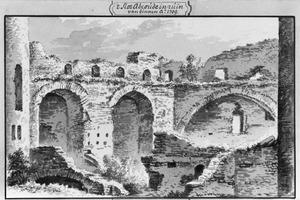 Ruïne van de binnenmuur van het kasteel van Abcoude