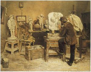 Het atelier van de beeldhouwer