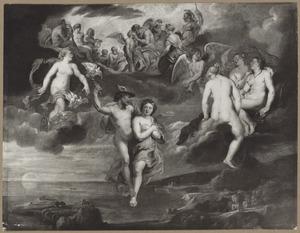 Mercurius begeleidt Psyche naar de Olympus en haar huwelijk met Amor