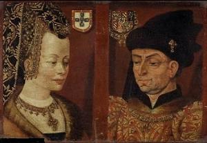 Dubbelportret van Philips 'de Goede' (1396-1467) en Isabella van Portugal (1397-1471)
