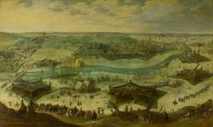 Een belegering van een stad, vermoedelijk het beleg van Gulik (Jülich) door de Spanjaarden onder Hendrik van den Bergh, 5 september 1621- 3 februari 1622