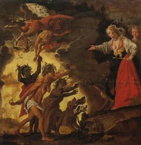 Juno daalt af in de onderwereld en verzoekt de Furiën Athamas krankzinnig te maken