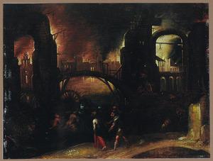 Aeneas en de Cumaeische sibille in de onderwereld