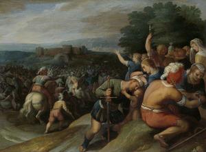 De Bataven sluiten de Romeinen bij Vetera in