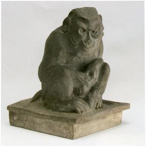 Zittend aapje