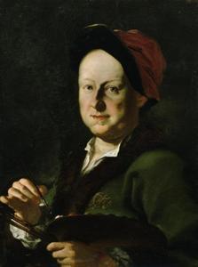 Portret van de veldslagenschilder August Querfurt (1696-1761)