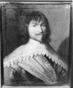 Portret van Adolf Reiswich, kapitein in het Noord-Hollands regiment