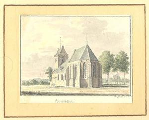 Vorchten (gemeente Heerde) gezicht op de kerk