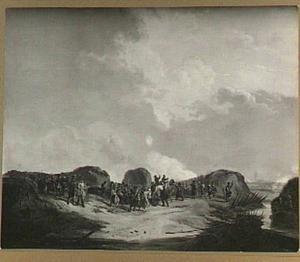 De Halve Maan voor Naarden bij het beleg van april 1814
