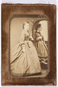 Portret van Justina Wilhelmina Adriana barones Rengers (1841-1863)