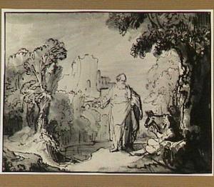De oude profeet van Betel ontmoet de man Gods uit Juda , die hem uitnodigt bij hem thuis (1 Koningen 13:14-18)