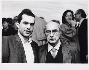 Portret van Peter van Beveren en Arthur Lehning