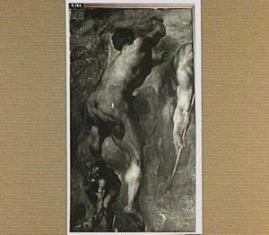Detail van het laatste oordeel naar Michelangelo