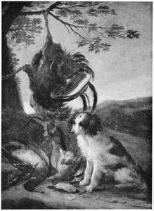 Hond bij jachtbuit