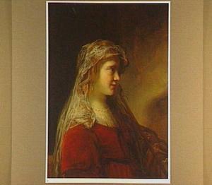 Portret van een onbekende vrouw in oud-testamentaire kleding