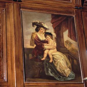 Portret van Helena Fourment (1614-1673) en Frans Rubens (1633-1678)