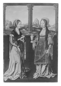 De H. Catharina (links); de H. Maria Magdalena (rechts)