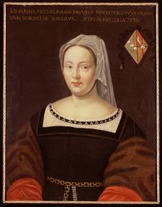 Portret van Johanna Mechelman (1498- )