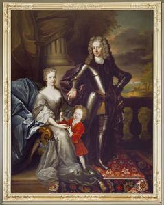 Familieportret van Arent van Wassenaer (1669-1721), Anna Margaretha Bentinck (1683-1763) en hun zoon Jacob Jan Brillanus van Wassenaer (1703-1717)