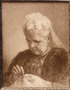 Portret van Emma als koningin-moeder (1858-1934)