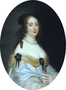 Portret van Louise Marie Gonzaga, koningin van Polen (1611-1667)