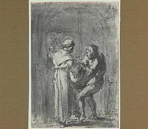 Lazarillo als pakjesdrager in dienst van een monnik (Lazarillo de Tormes dl. 2, cap. 12, p. 89)