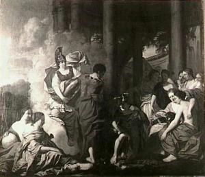 Perseus rust zich uit voor het doden van Medusa