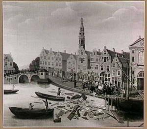 Plundering van het huis 'De Drie Haringen' in Leiden op 17 juli 1748