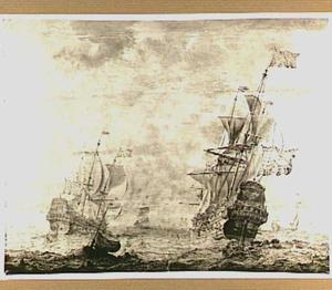 Hollandse schepen op kabbelend water