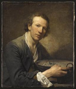 Joseph, schildersmodel aan de Académie Royale in Parijs een vuurtest vasthoudend