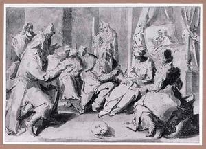 Zacharias maakt de naam van Johannes de Doper bekend