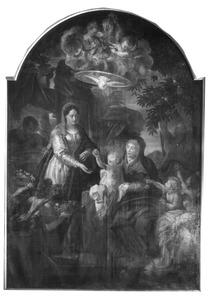De H. Familie met de H. Anna en engelen