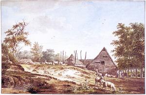 Landschap met boerderij bij Ede, in Gelderland